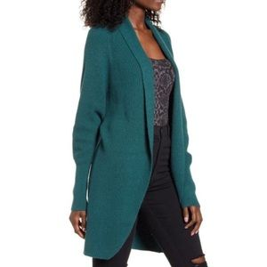 New Leith Dolman Sleeve Long Open Front Cardigan